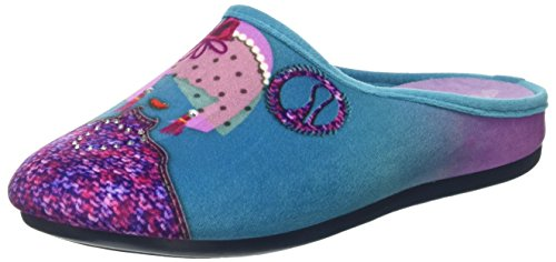 Ouvert Femme à 094 Virgola Turquoise Talon Chaussons Acquamarina Blu In xwOF76v6