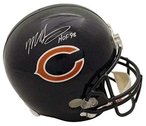 Signed Mike Singletary Helmet - Replica HOF 22745 - Autographed NFL Helmets