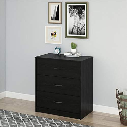 Finch 3-Drawer Chest, Espresso (Drawer Dresser ONLY, Dark Oak) -