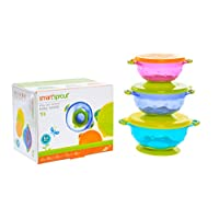 Smart Sprout Baby Bowls – Stay Put Suction Bowls Set with Snap Tight Lids - F...