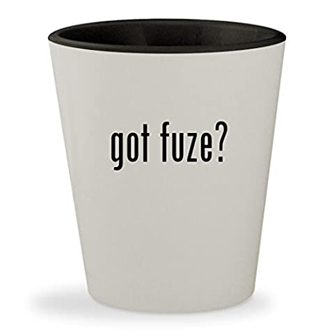 got fuze? - White Outer & Black Inner Ceramic 1.5oz Shot Glass (Fuze Peach Mango)