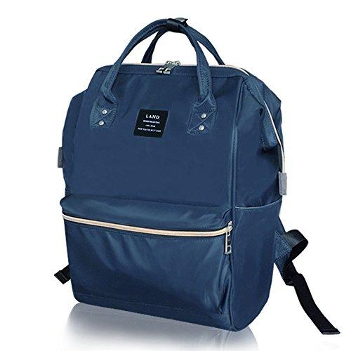 Hombro doble del color sólido, bolso de la momia de la capacidad grande, morral, bolsos de la momia, bolsos maternos e infantiles, bolso de múltiples funciones de la momia ( Color : Negro ) Azul