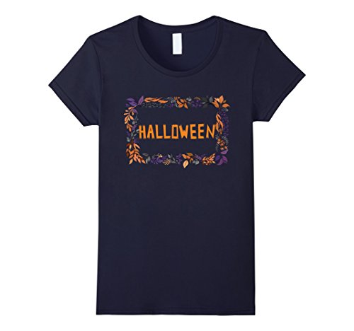 Womens Happy Halloween 2017 - Graphic Short Sleeve T-Shirt Small Navy