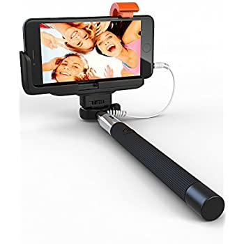 selfie stick perfectday foldable extendable bluetooth selfie stick with built in. Black Bedroom Furniture Sets. Home Design Ideas
