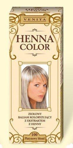 Henna Color 100 Platin Blond Haarbalsam Haarfarbe Farbeffekt Naturhaarfärbemittel Henne Öko
