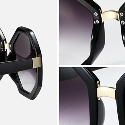 Sol Hombre Retro Gafas Mujer Poligonal Señora Para Haiying De NX80knPwO