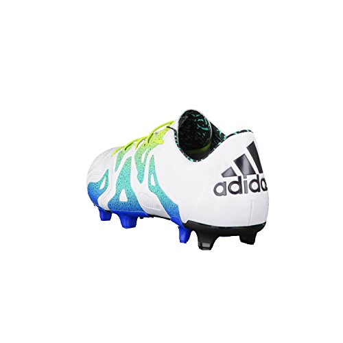 adidas X 15.1 FG/AG Leather, Scarpe da Calcio Uomo Multicolore (Blanco / Verde / Negro (Ftwbla / Seliso / Negbas))