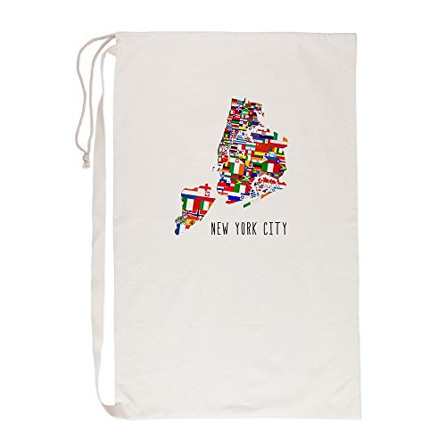 CafePress - New York City Ethnic Map - Laundry Bag, 23