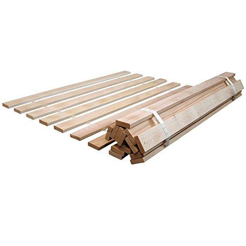 Rete avvolgibile per materasso con doghe in legno massiccio disponibile in diverse misure - Doghe in legno ikea ...