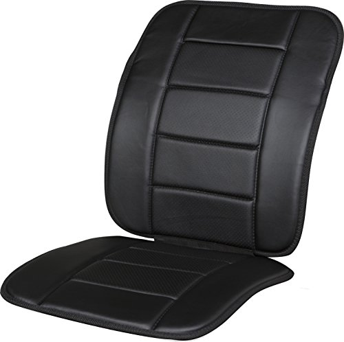 - Kool Kooshion 60-287005B Faux Leather Full Seat Cushion, Black