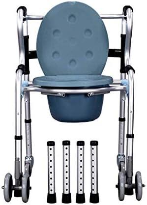 トイレ椅子 ポータブルトイレ 高齢者 ホイール風呂椅子無効ウォーカーソファチェアとベッドサイド便器椅子