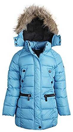 Amazon.com: Weatherproof Little Girls Hooded Down Alternative ...