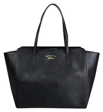 4a2ff3b9476 Amazon.com  Gucci Women s Swing Black Leather Tote Bag Bag 354397  Clothing