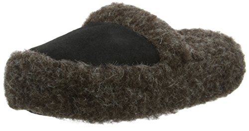 Woolsies Staten Natural Wool Mule, Zapatillas de Estar por Casa Unisex Adulto Gris (Graphite Grey)