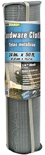 (Gilbert & Bennett YARDGARD 308247B 24-Inch x 50-Foot 1/4-Inch Galvanized Mesh Hardware Cloth)