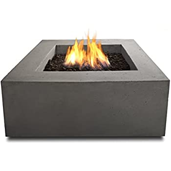 Exceptional Real Flame T9620NG GLG Baltic Square Natural Gas Table, Glacier Gray