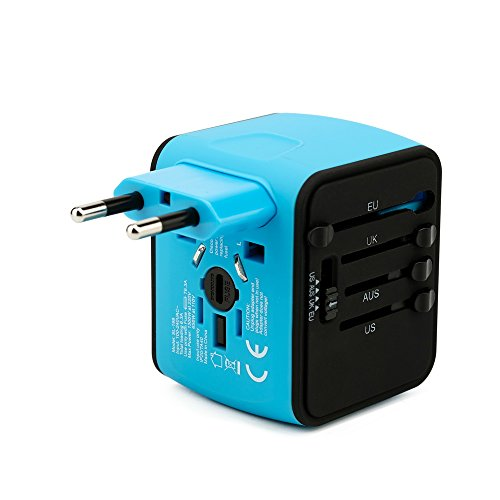 Charging Kit Us Outlet Plug (Xlinder, Travel Adapter, International Power Adapter with 2.4A Dual USB Charger, Worldwide AC Wall Outlet Plugs for UK, US, AU, Europe, over for150 countries- Charged to any USB Device, Cell phones)