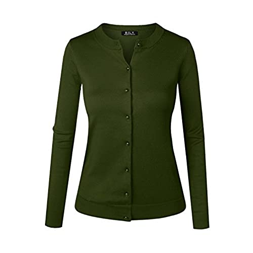 Knit Olive Green Cardigan: Amazon.com