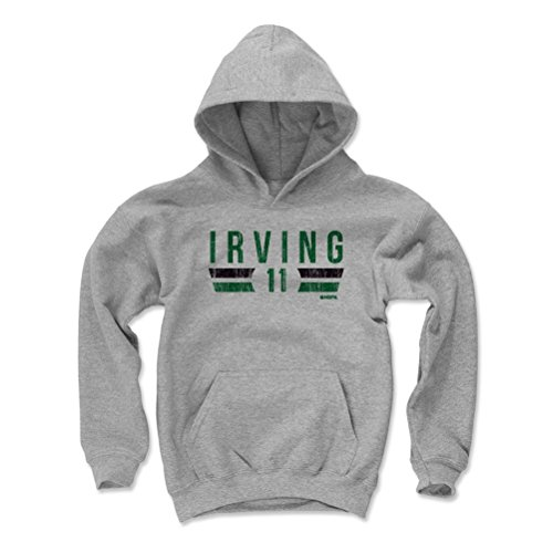 500 LEVEL Kyrie Irving Boston Basketball Youth Sweatshirt (Kids Large, Gray) - Kyrie Irving Boston Font G ()