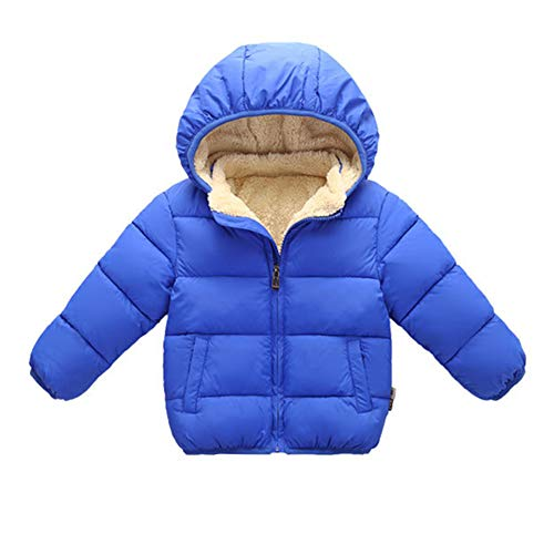 - Toddler Baby Hooded Down Jacket Boys Girls Kids Thicken Warm Winter Coat Outerwear 4-5t Blue