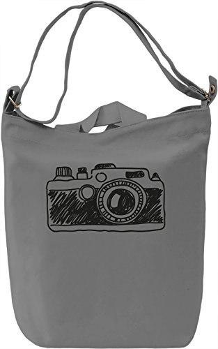 Doodle camera Borsa Giornaliera Canvas Canvas Day Bag| 100% Premium Cotton Canvas| DTG Printing|