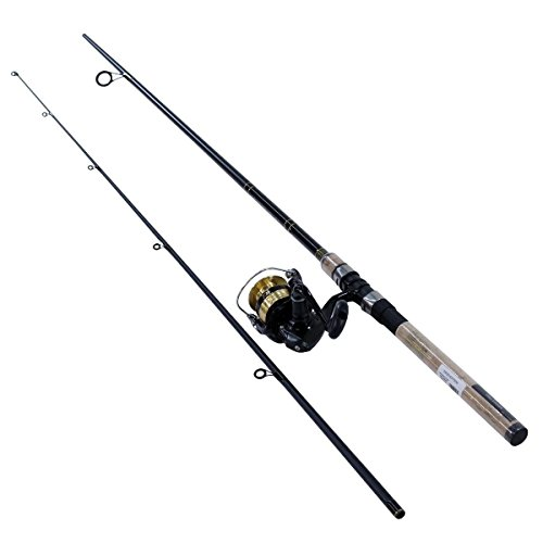 - Daiwa DSK30-B/F702M D-Shock Freshwater Spinning Combo, 3000, 7' 2Piece Rod, 6-14 lb Line Rate, 1/4-3/4 oz Lure Rate