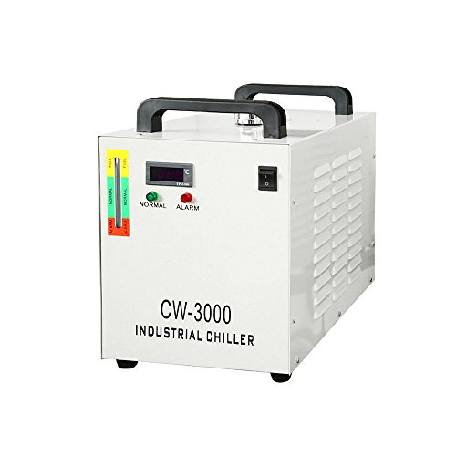 Industrial Water ChillerThermolysis Industrial Water Chiller Machine for 60/80W CO2 Glass Tube CW-3000 CNC/Laser Engraver Engraving Machines 9L110V