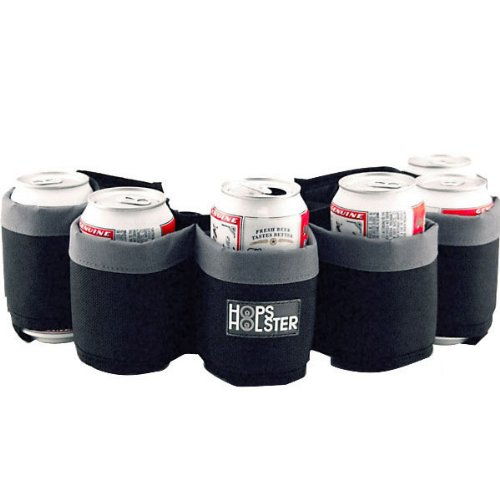 Hops Holster Beer Can Belt - Holds 6 Cans: Grey