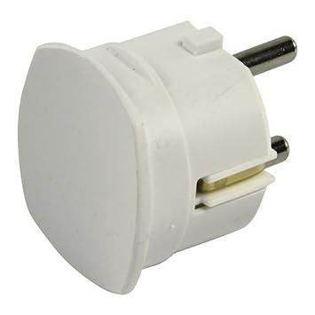 Legrand potencia m/áxima de trabajo de 3680W y 16A a 230V Enchufe extraplano 050183 Bases y clavijas color blanco