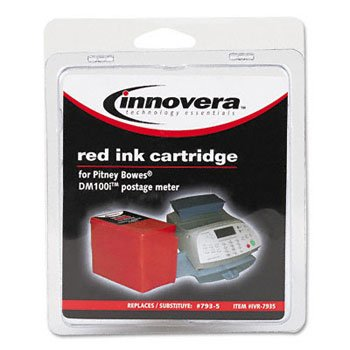 IVR7935 - Innovera 793-5 Red Ink Cartridge Compatible with Pitney Bowes DM100i, DM200L, P700  Postage Mailing Meter Machine