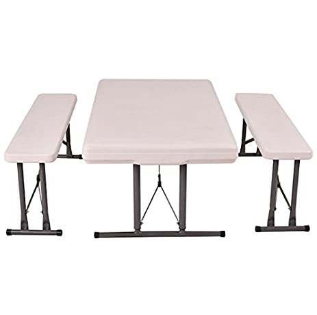 Amazon.com : Folding Table and Benches Set Chair Seat Foldable ...