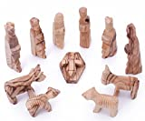 Zuluf Olive Wood Children's Nativity Set 3 inches - 12 Pieces Set by