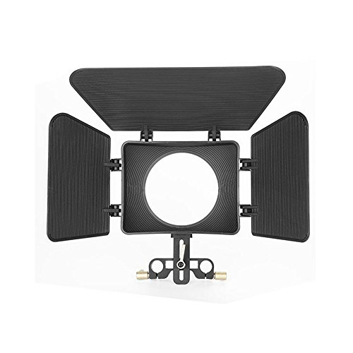 DSLR Matte Box Sunshade with Flags for 15mm Rail Rod Support Follow Focus System for DSLR Camera by None