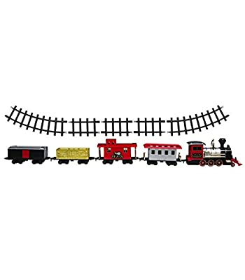 FAO Schwarz Train Set Motorized with Sound 75 Piece Set for Kids from MerchSource