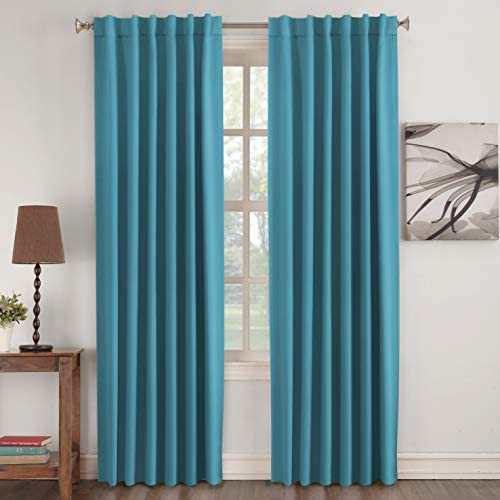 home, kitchen, home décor, window treatments, curtains, drapes,  panels 5 discount Blackout Curtain Panels - (Teal Blue Color)- Rod Pocket deals