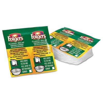 Folgers Decaf Coffee Pack - Decaffeinated - 42 / Carton