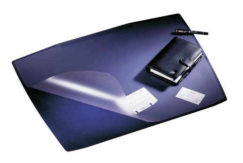 Durable Artwork Desk Mat Non-Slip Base With Transparent Anti-Glare Overlay 680X510Mm Blue Ref 7201/07
