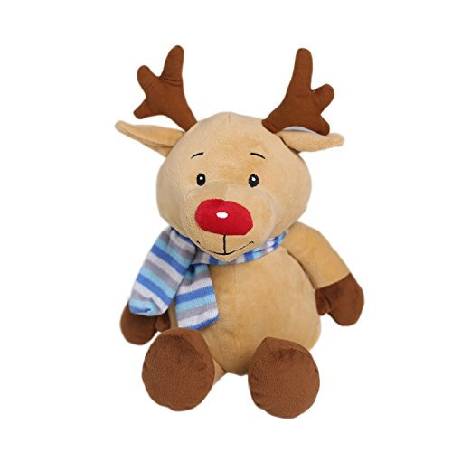 Soft Stuffed Animal Elk Stuffed Animal Valentines Gifts Elk Animal Stuffed Plush Doll 13 Inches Brown by HollyHOME Elks Animals