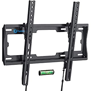 Tilt TV Wall Mount Bracket Low Profile for Most 26-55 Inch LED LCD OLED Plasma Flat Curved Screen TVs, 8 Degrees Tilting for Anti-Glaring, Max VESA 400x400mm and Holds up to 99lbs by Pipishell
