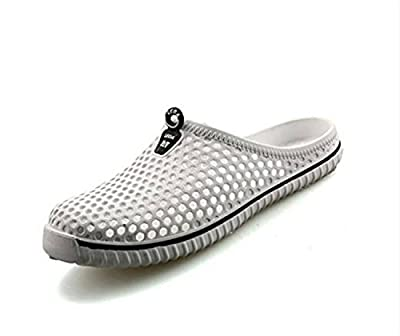 Kicoco Unisex Slip On Garden Shoes Summer Breathable Hole Mesh Sandals Couple Beach Slippers Lightweight Quick-dry Non-slip Slippers