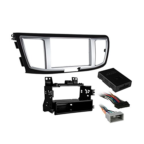 - Metra 99-7804B Single/Double DIN Installation Kit with Display for Select 2013-Up Honda Accord Vehicles (Black)