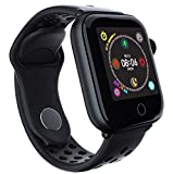 TADAMI Fashion Bluetooth Smart Watch Heart Rate Monitor Bracelet for Android iOS (Black)