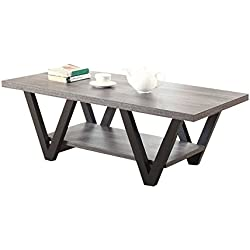 Coaster Home Furnishings 705398 Coffee Table, Black/Grey