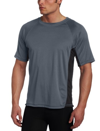 Kanu Surf Men's CB Rashguard UPF 50+ Swim Shirt (Regular & Extended Sizes), Charcoal, Large ()