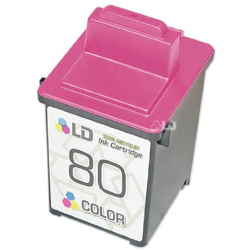 LD © Lexmark Remanufactured 12A1980 (#80) Color Ink Cartridge
