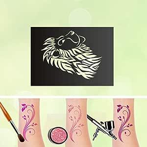 Plantillas de tatuaje con diseño de león y el rey de los animales ...