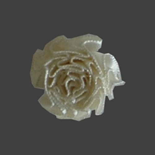 Berisford Ribbon Ruched Rosettes 28 Antique White - per pack of 6