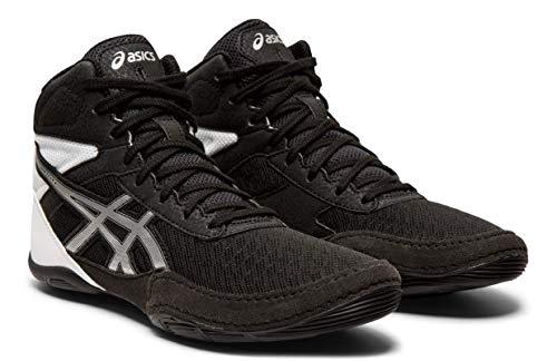 ASICS Kid's Matflex 6 GS Wrestling Shoes, Black/Silver, 3.5 M US Big Kid