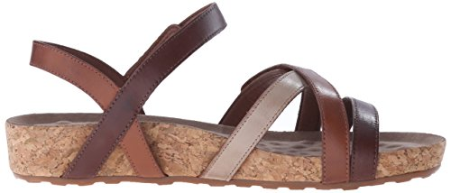 Walking Cradles Des Femmes De Piscine Sandale Plate Marron
