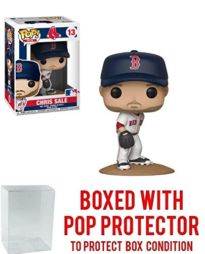POP! Sports MLB's Boston Red Sox, Chris Sale Action Figure (Bundled with Pop Box Protector to Protect Display Box)